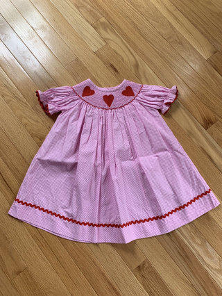 898144b3d Smocked Auctions Smocked Hearts Dress
