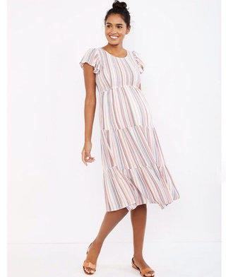 b8ac9e4aa72a9 Motherhood Maternity Smocked Striped Dress