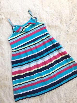8ed255b92f8b7 🦄Faded Glory Striped Ruffle Sundress