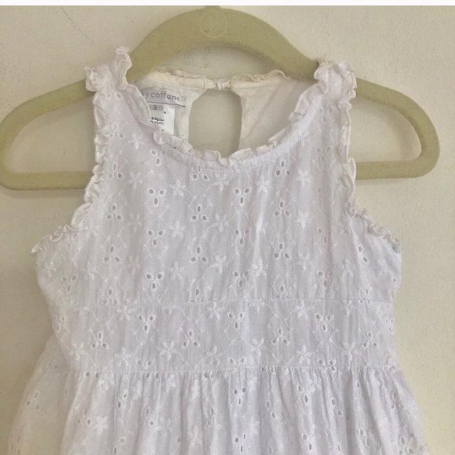 Baby Cottons White Eyelet Bow Sleeveless Dress