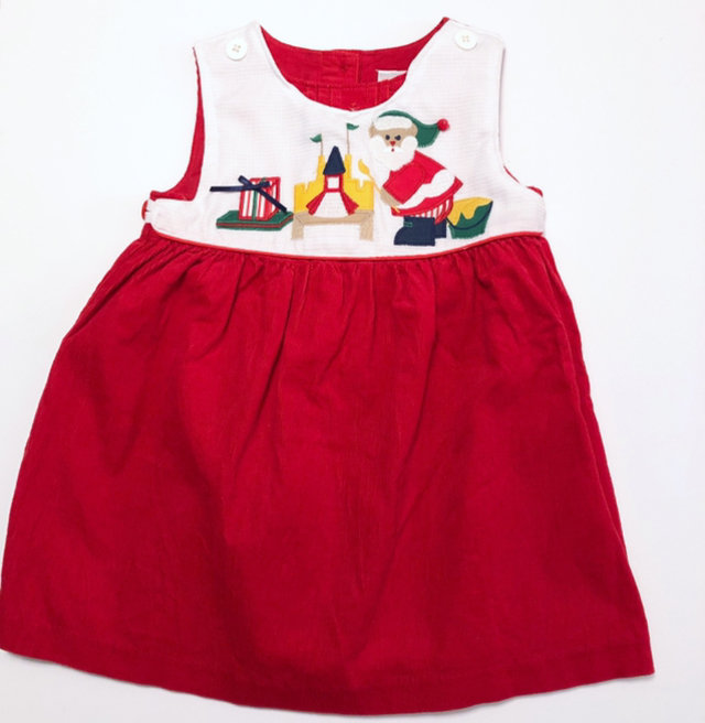 Christmas Dress With Santa 12 18 Months