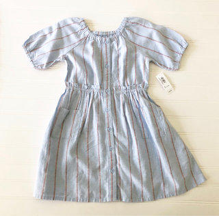 247826373f3196 NWT Old Navy Linen Cotton Striped Dress