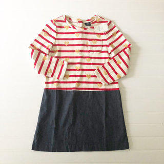 619494182d7fb4 NWT Gap Striped Jersey And Chambray Dress