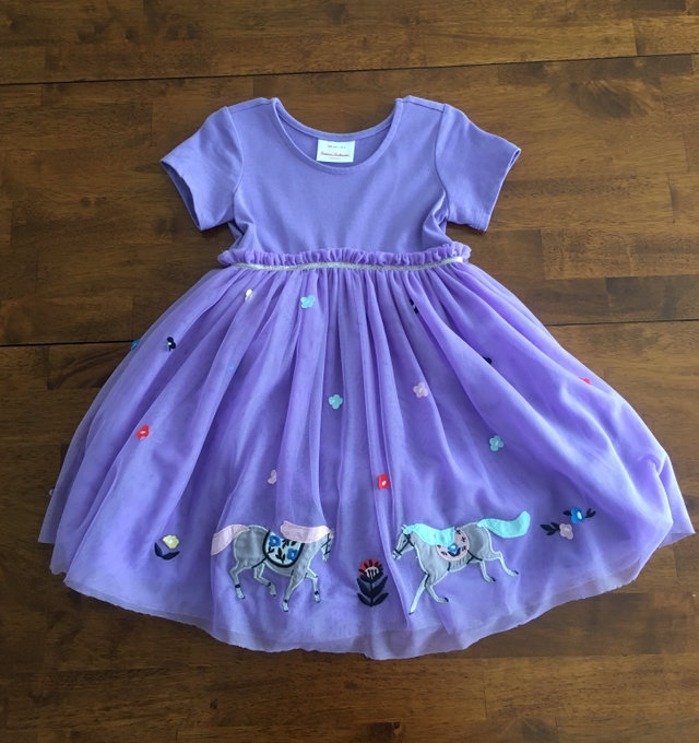 Moon and Back by Hanna Andersson Girls Tulle Dress