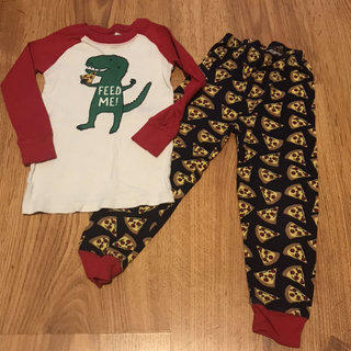 548e8acbdf1f Gymboree Pizza Eating Dinosaur Pajamas
