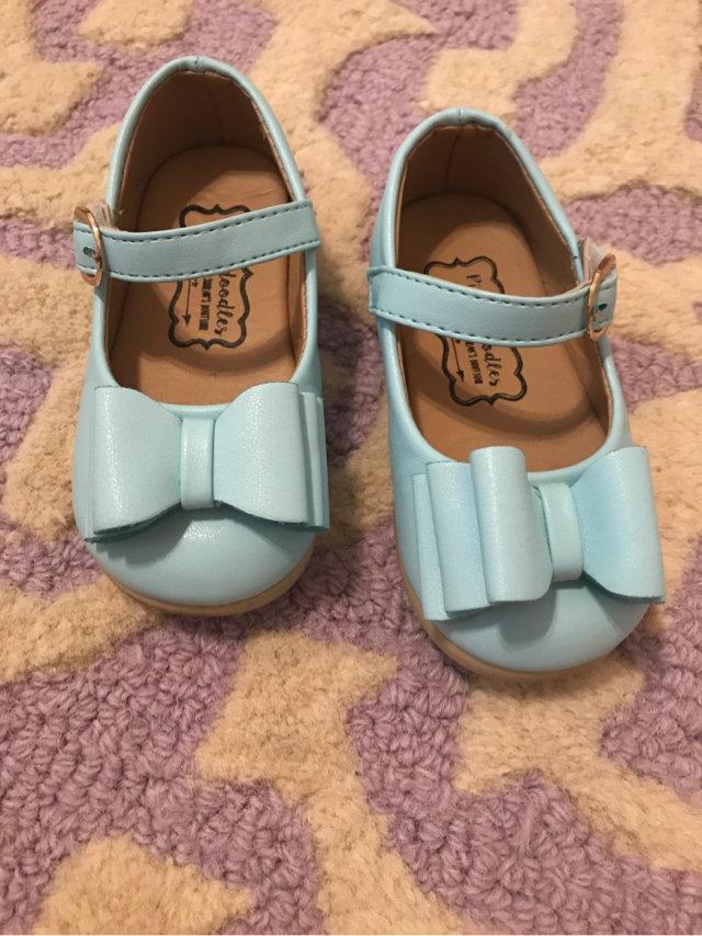 Pipperdoodles Light Blue Bow Shoes