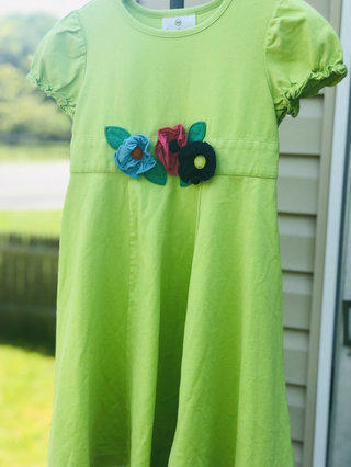 292e8cc37b25d4 Hanna Andersson Neon Lime Green Dress For Girls