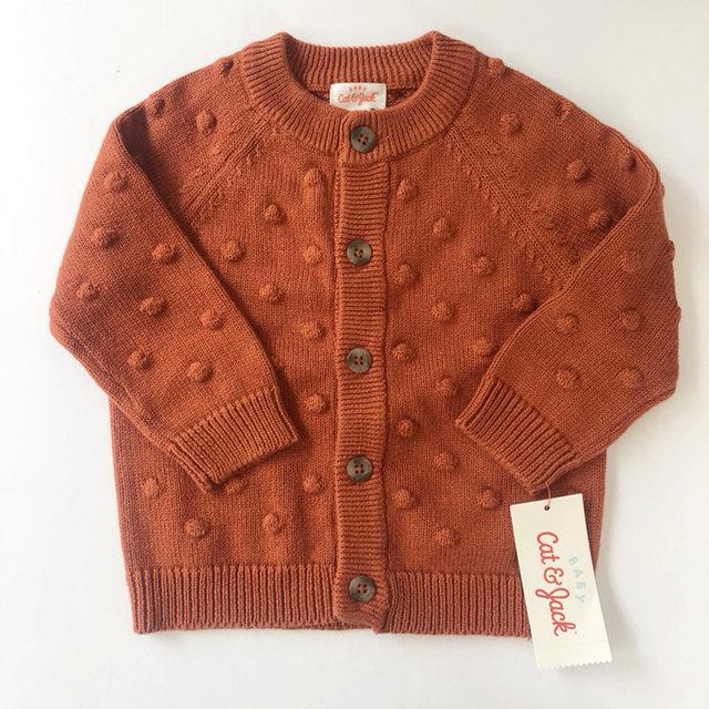 Cat /& Jack Sweater Cardigan Gray /& Red Boys 2T NWT