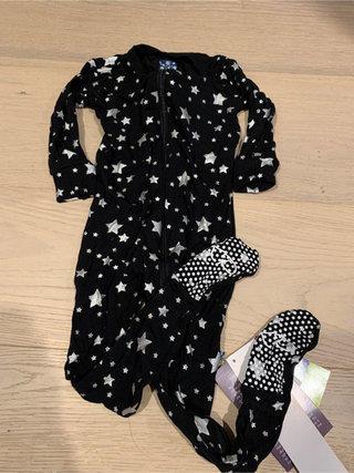 KicKee Pants Long sleeve Swing Dress Blackberries Girl Toddler 18-24 Months