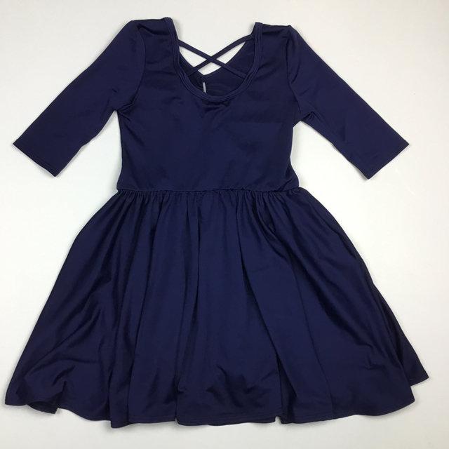 Dot Dot Smile Navy Twirl Dress