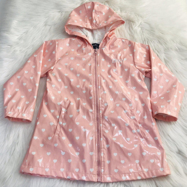 NWT DKNY 3pc hoodie jacket GIRL size 12M pink