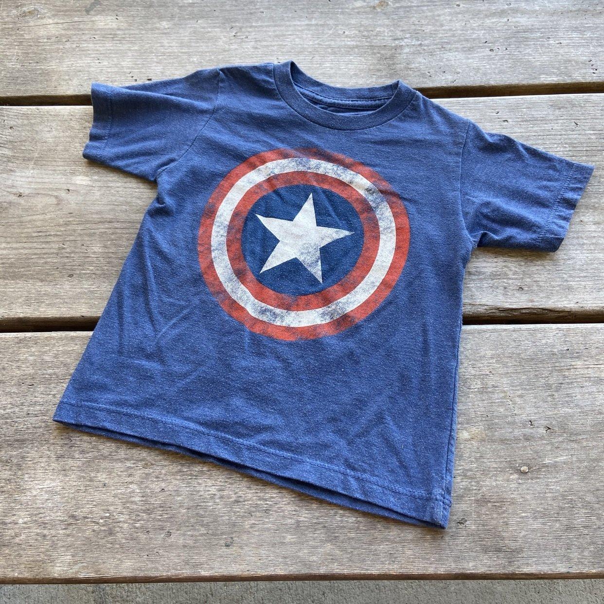 Captain America Two-Tone Tee Shirt Blue
