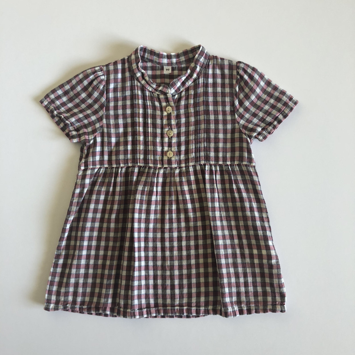 Gingham dress calico dress with elastic top and ribbon ties Crawling Dress in Calico or Gingham Baby dress cotton baby dress