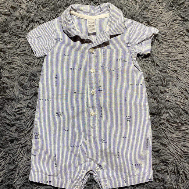 """Just One You 3 Month Microfleece /""""My First Halloween/"""" Button Down Sleeper"""