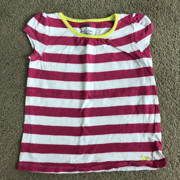NWT GYMBOREE baby Girls Pink stripe shirt soft Size 12-18 m