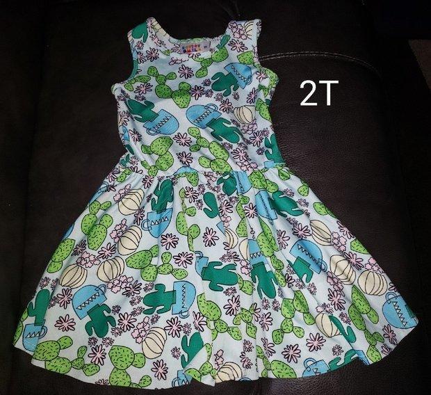 Dot Dot Smile Ballarina Dress Size Whit w// Cactus