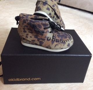 "NIB Akid ""The Stone"" Leopard Shoes"