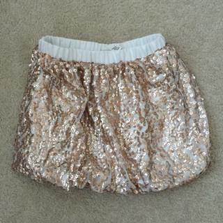 Cherokee Gold Sequin Bubble Skirt