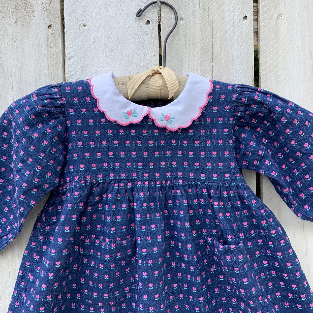 Vintage Kids 18-24 Month Jean Dress