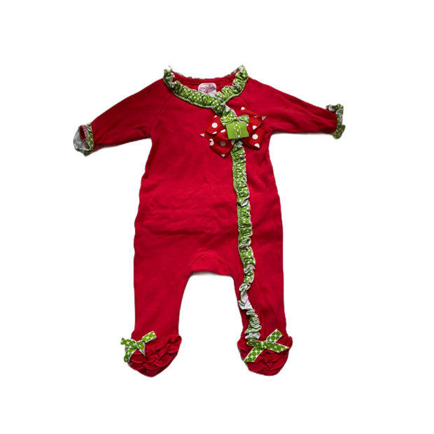 mudpie Red Santa Sleeper 0-6 months NWT