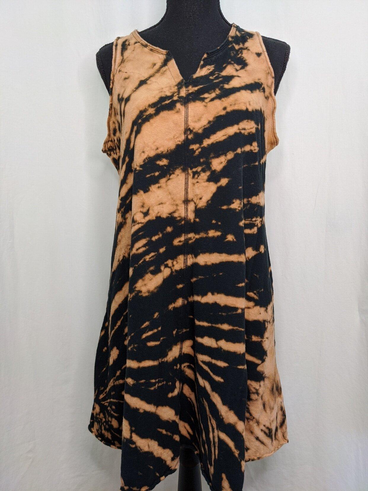 Size M Mystical Aura Bleach Dyed Dress