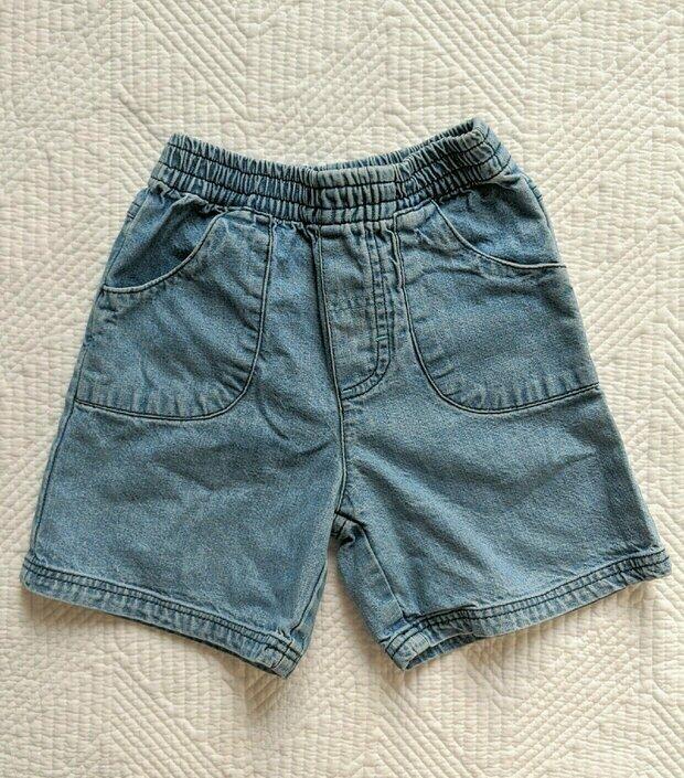 Healthtex Toddler Girl Embroidered Pocket Denim Bermuda Shorts Size 2T NWT