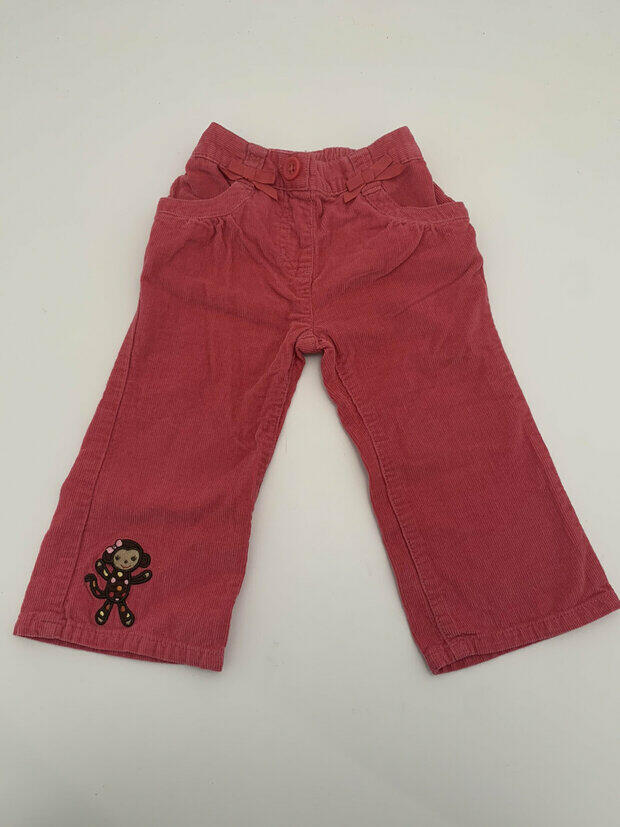 GYMBOREE Cherry Blossom Collection Denim Coral Jeans Pants 12-18-24 month 5T NEW