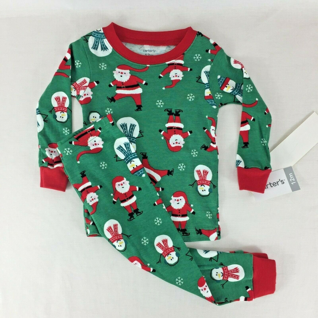 NWT Carter/'s Baby//Toddler Girl Red 2-PC Winter Snowman Pajama Set 18 Months