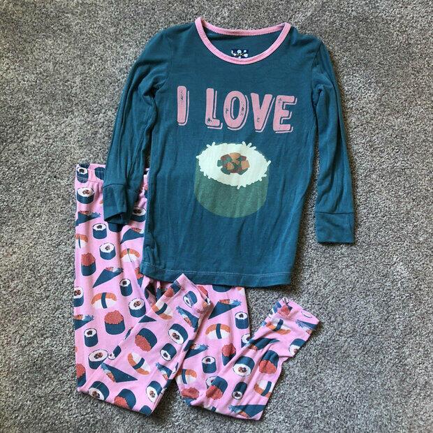 Kids Or Little Boys and Girls I Love Sushi Unisex Childrens Short Sleeve T-Shirt