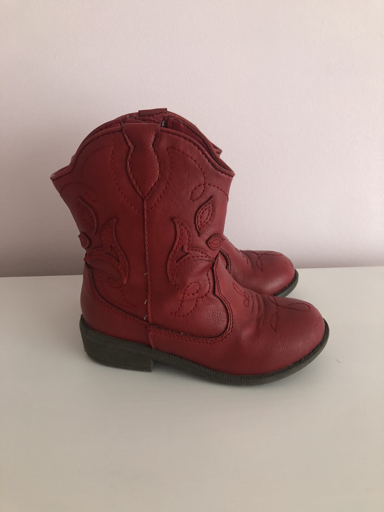 Cat & Jack Red Cowgirl Boots