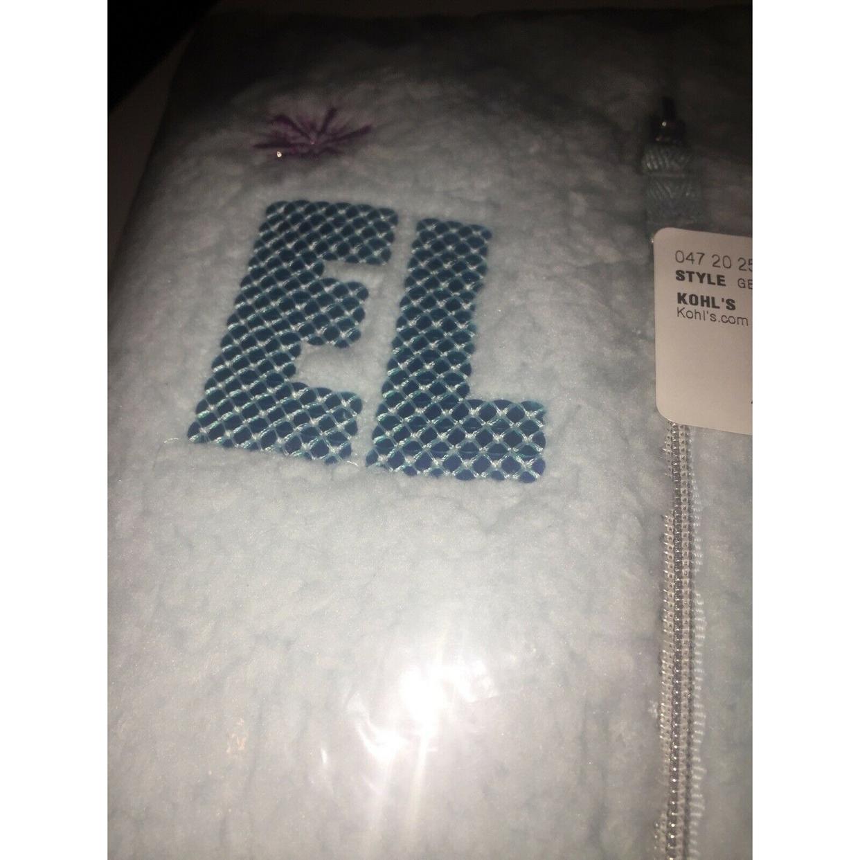 Disney/'s Frozen Toddler Girl Elsa Plush Zip Front Jumping Beans Hoodie $36 4T