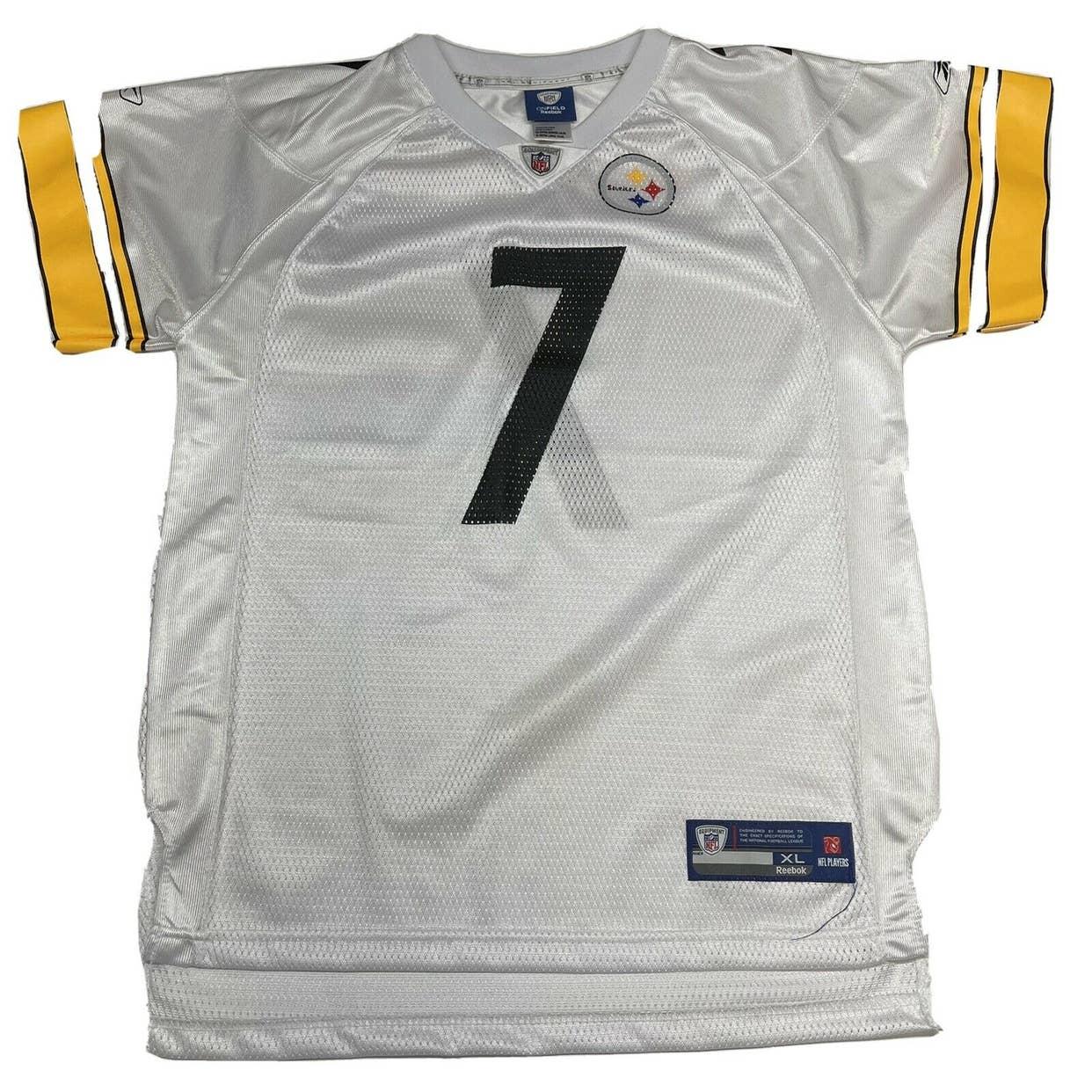 Ben Roethlisberger #7 On Field Reebok Pittsburgh Steelers Jersey ...