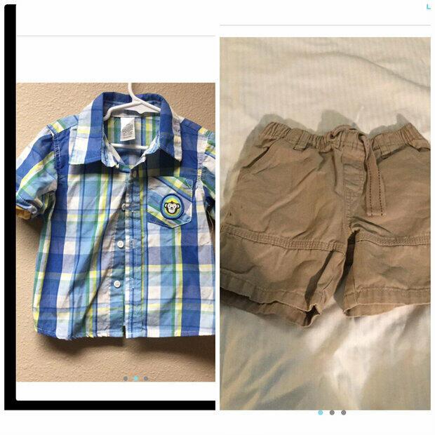 NWT Gymboree Boys Blue Orange Striped Dress Button Shirt Sz 6-12 12-18 /& 18-24 M