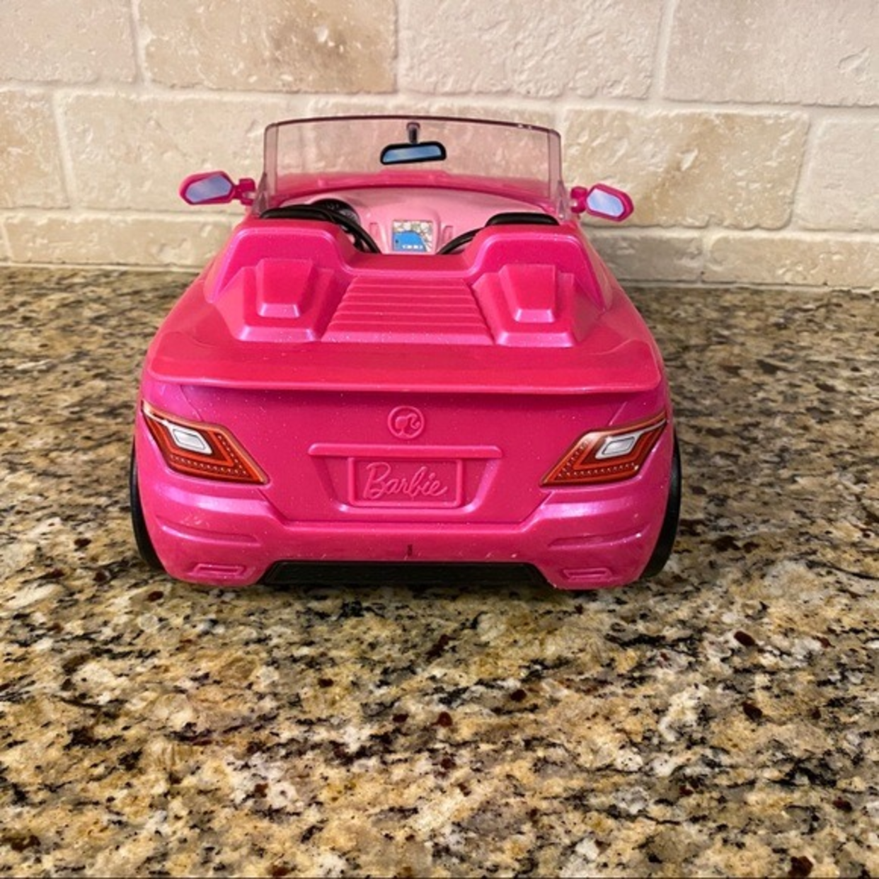 Barbie Pink Convertible Toy Car