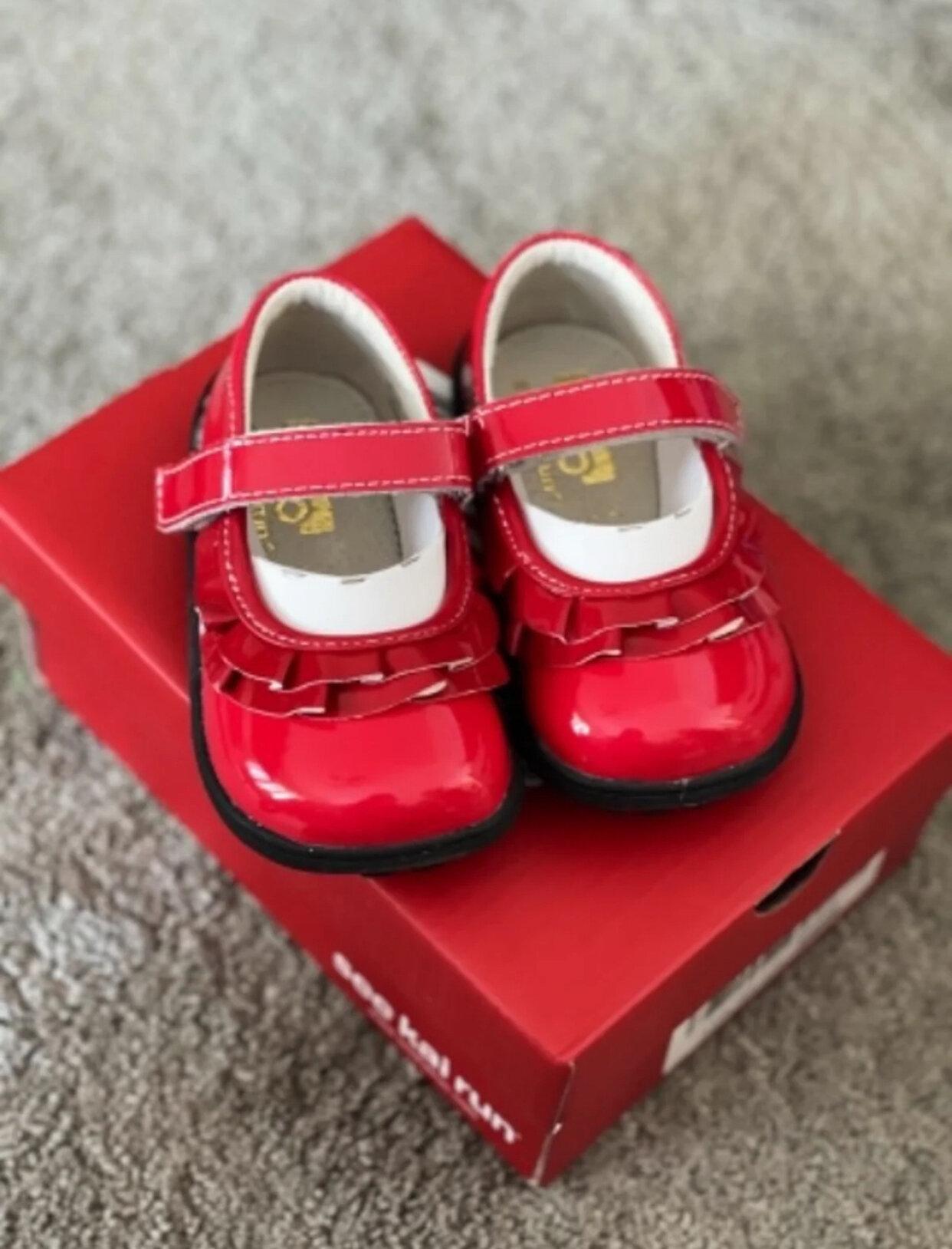 See Kai Run Belle Ruffled Mary Jane Infant//Toddler
