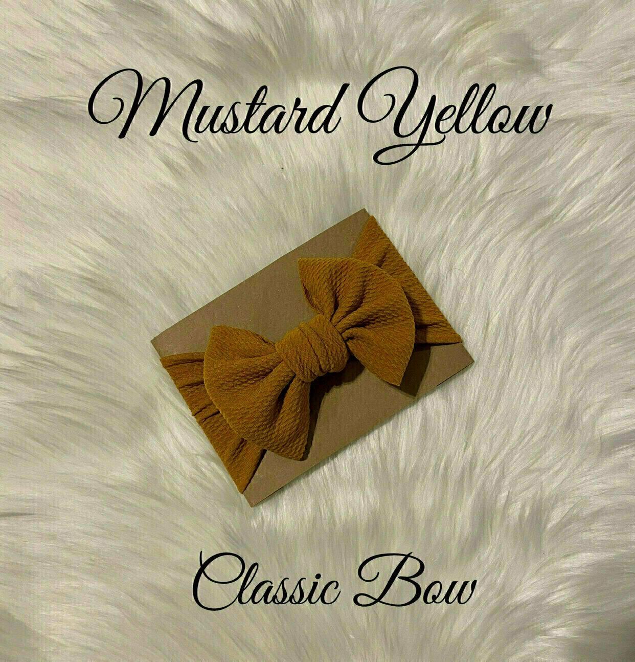 Mustard Messy Bow