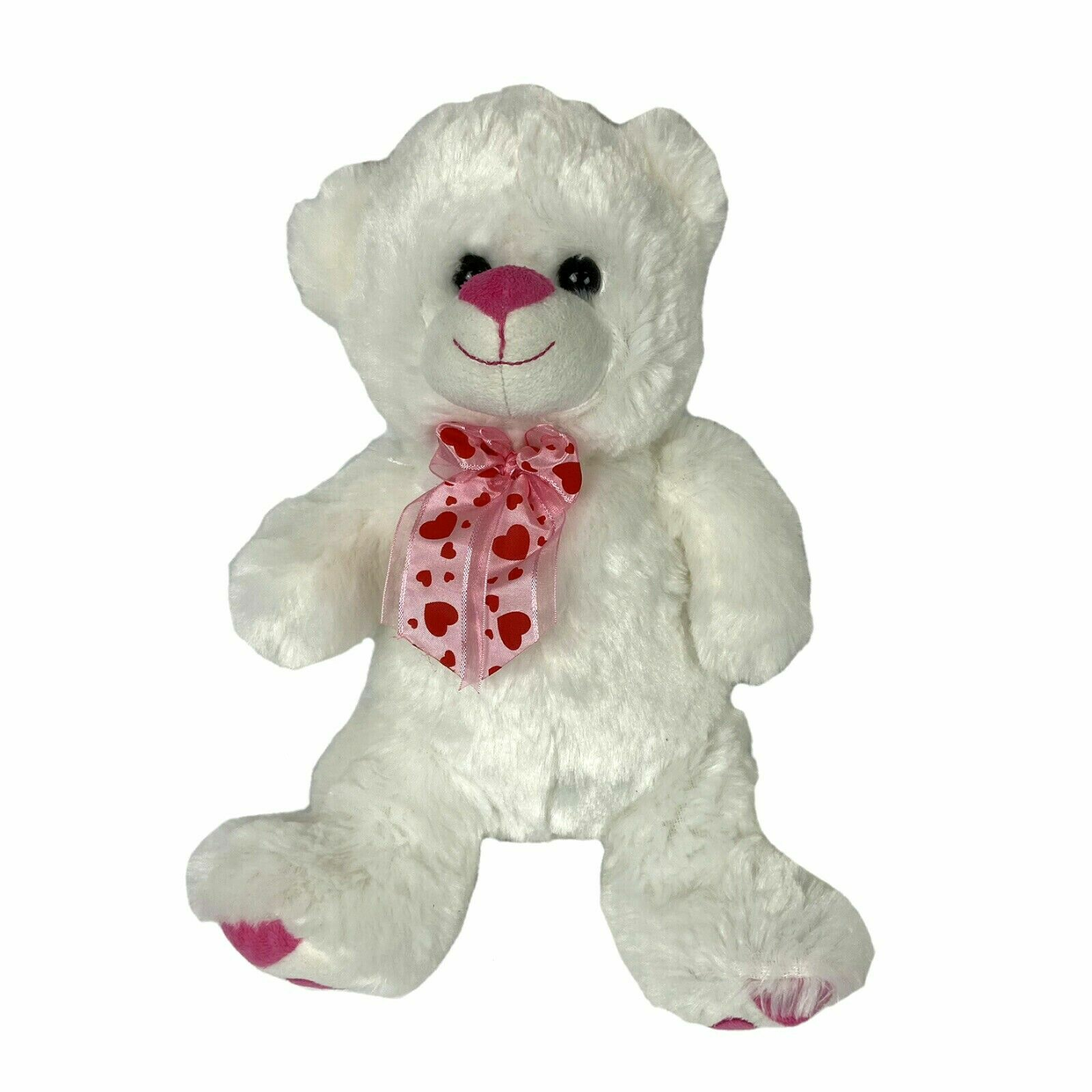 Gift Party Valentine Bear Pink Polka Dot Bow VDay Teddy Bear Bow Valentine/'s Day Bow Pink Dots