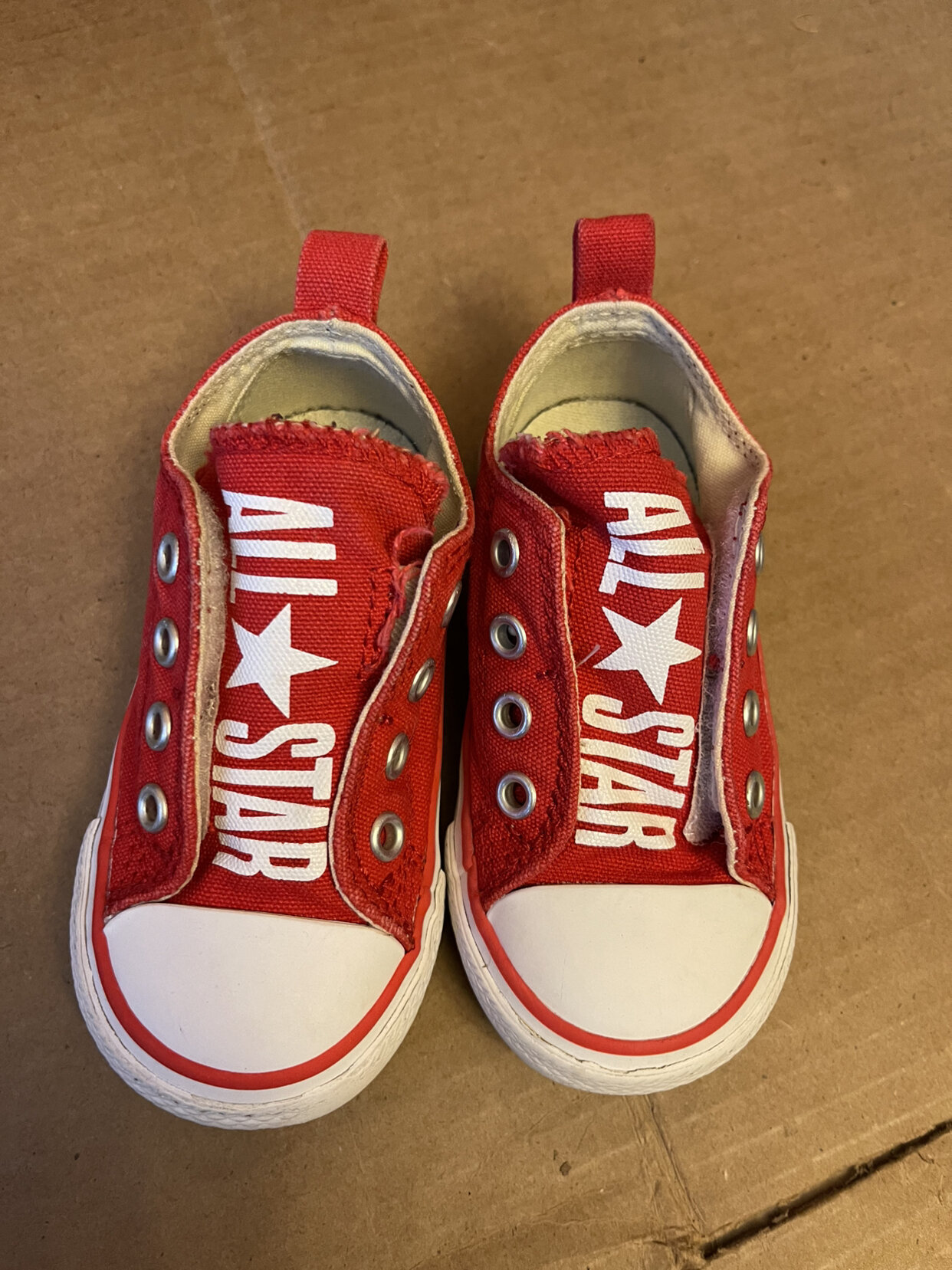 Red Converse Velcro