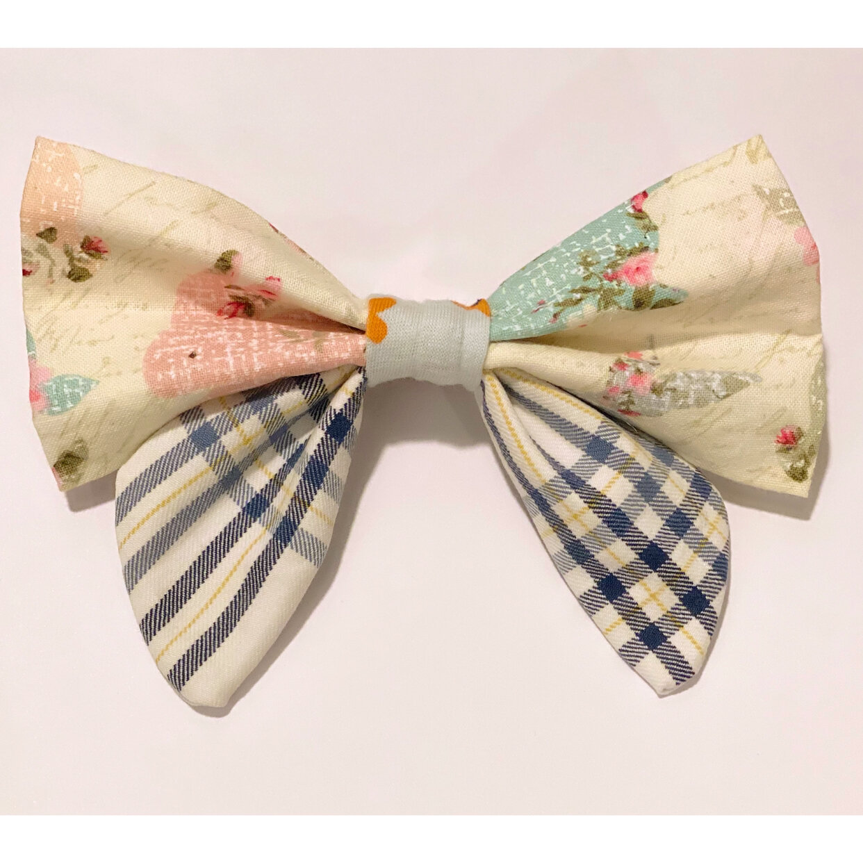 Pastel checker pattern hairbow