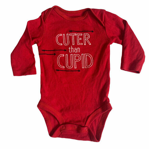3 CARTERS JUST ONE YOU Baby Boy 3 Piece Outfit Red//Black NB or 6mo NWOT