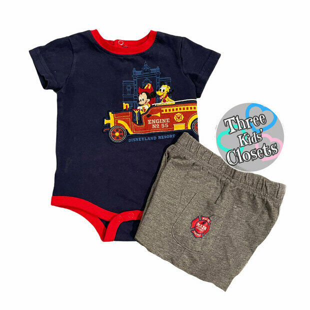 NWT Toddler Boys Disney Junior MICKEY MOUSE 2 Pc Set Joggers Top Size 5T NEW