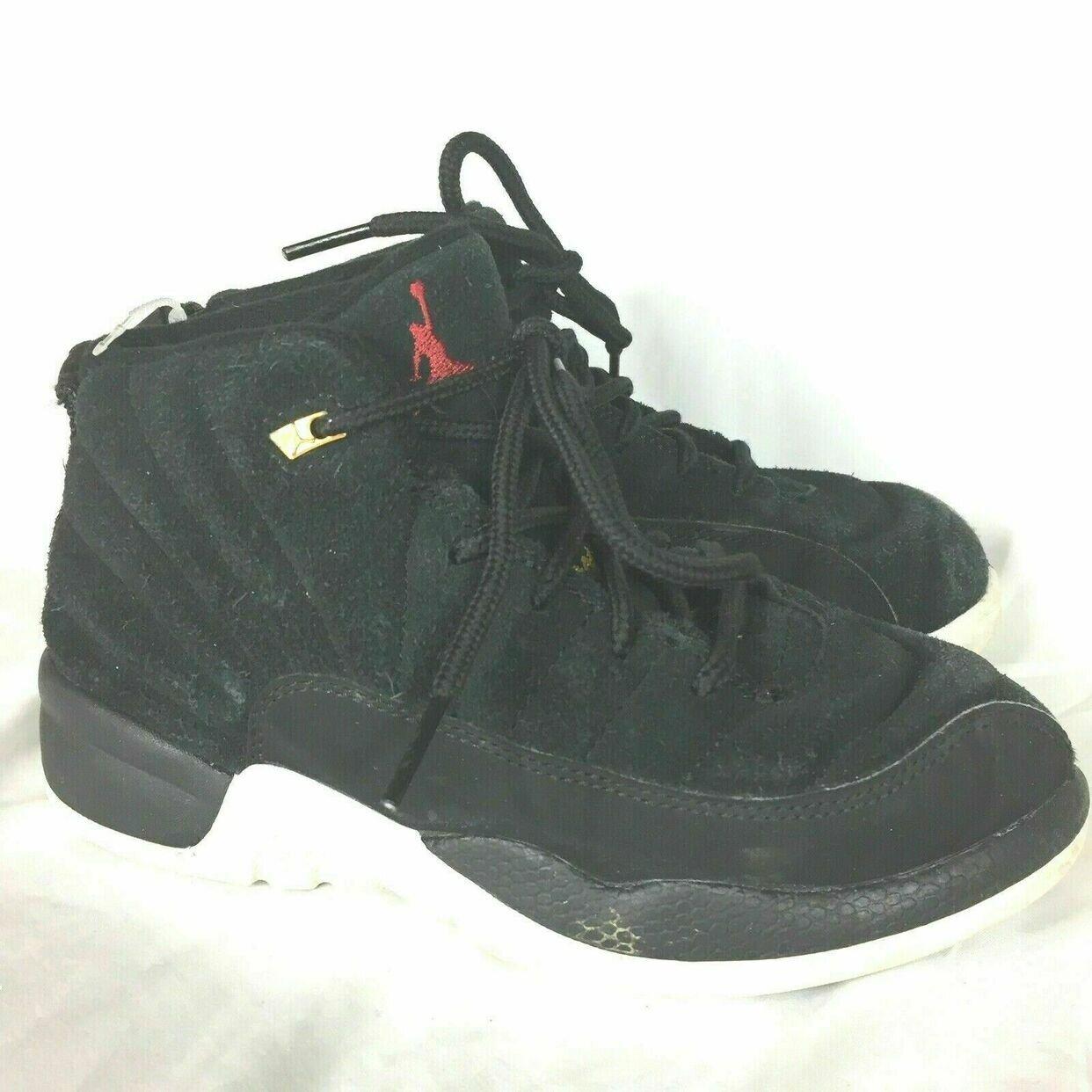 Nike Air Jordan XII 12 Retro Reverse Taxi Kids Shoes Size 13C ...