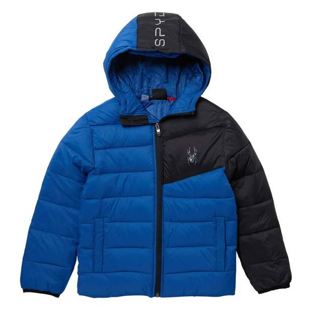 NWT Spyder Youth Boys Ace Short Puffer Jacket Black Size 5