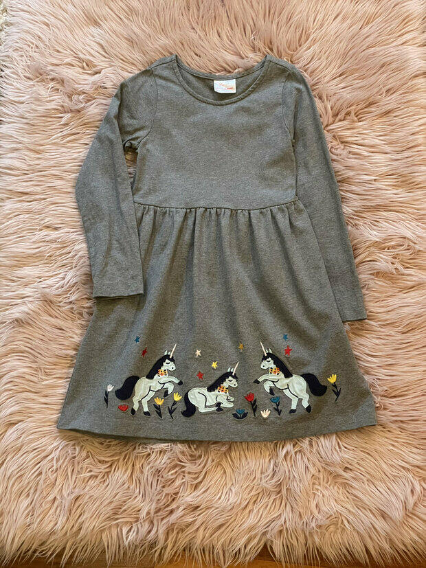 NWT Hanna Andersson PURPLE RUFFLED APPY SWANS TOP Shirt 120 6//7  150 12