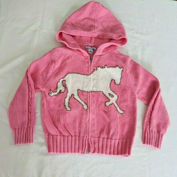 size 4T Lovely corduroy horse jumper by Hartstrings