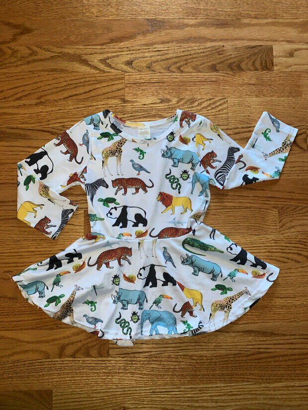 Toddler Boys Zoo Animals Shorts Overalls Sz 12-18 mo