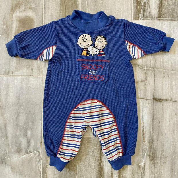 6-9m Train Embroidery Romper Onesie Healthtex Baby Boys Vintage