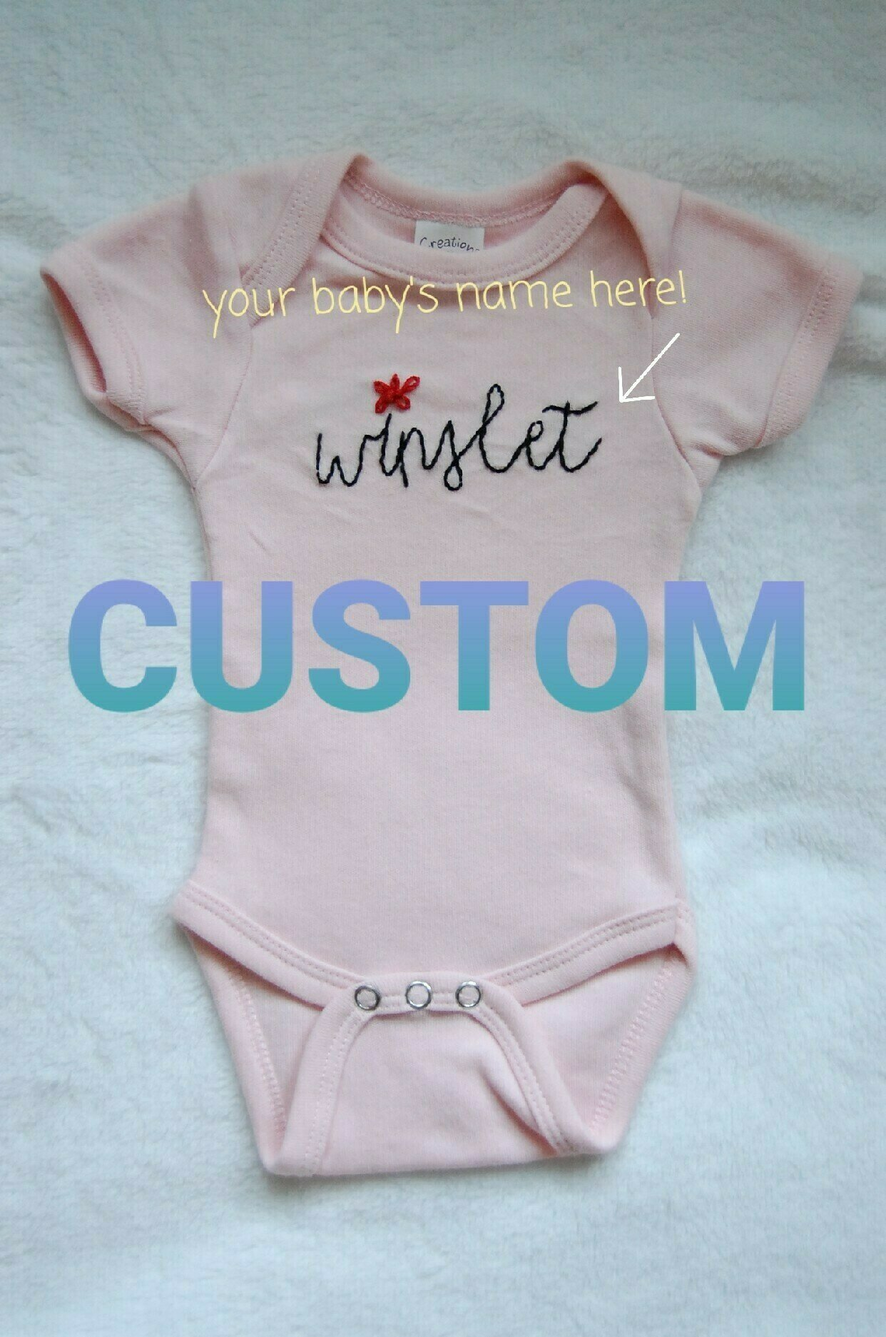 Personalized appliqu\u00e9d patchwork flower baby onesie
