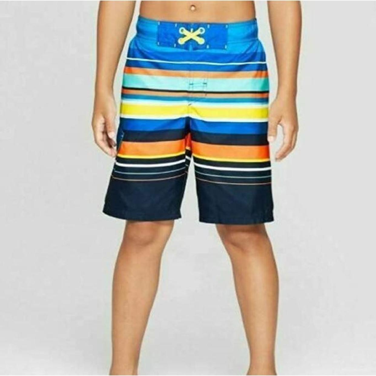 Boys Large 12//14 Husky Cat /& Jack Swim Suit Shorts New