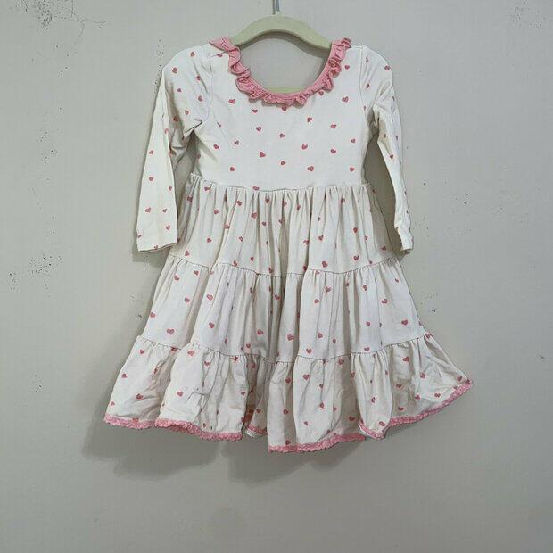 Botique Ruffle Twirling Dress Size 8 Blue Sweet Honey SweetHoney Clothing Co